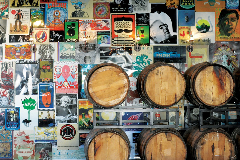 STARR HILL TASTING ROOM/ COLLAGE WALL