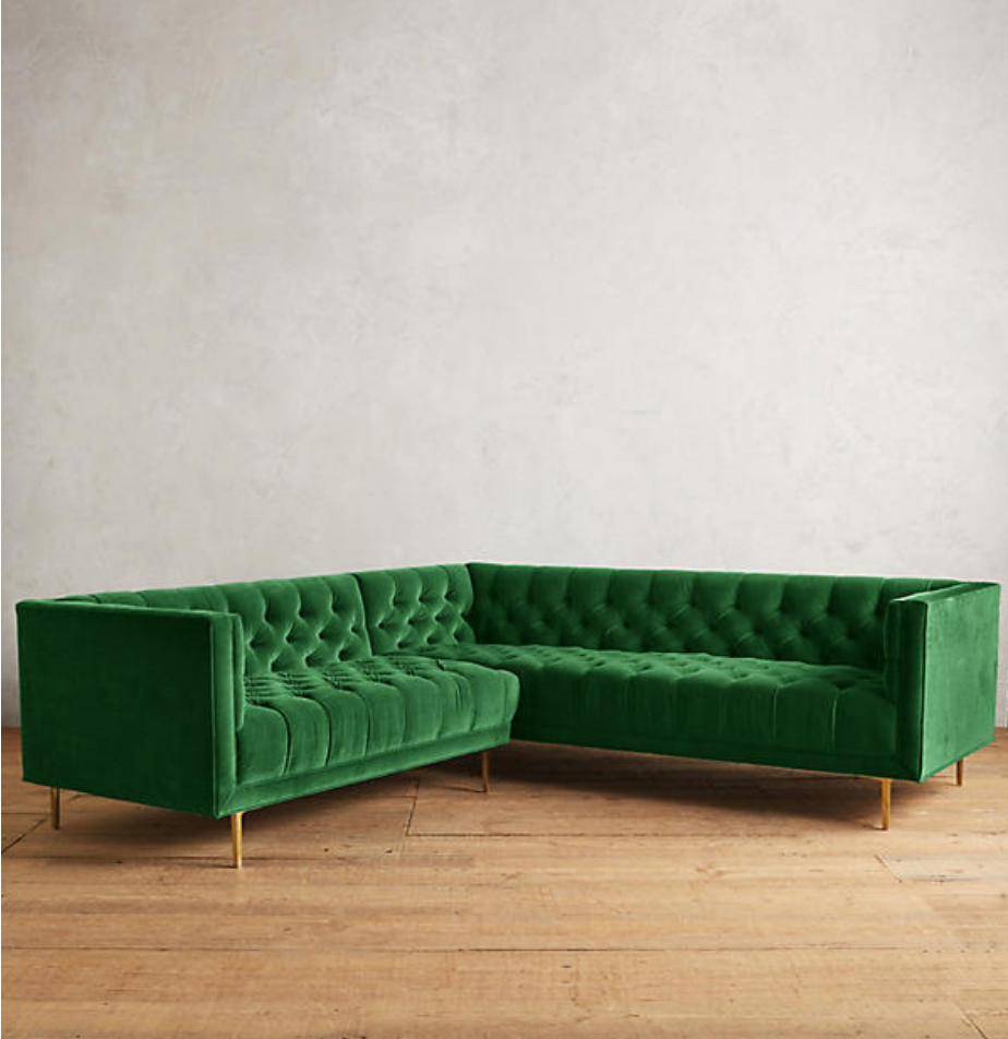 VELVET MINA SECTIONAL SOFA