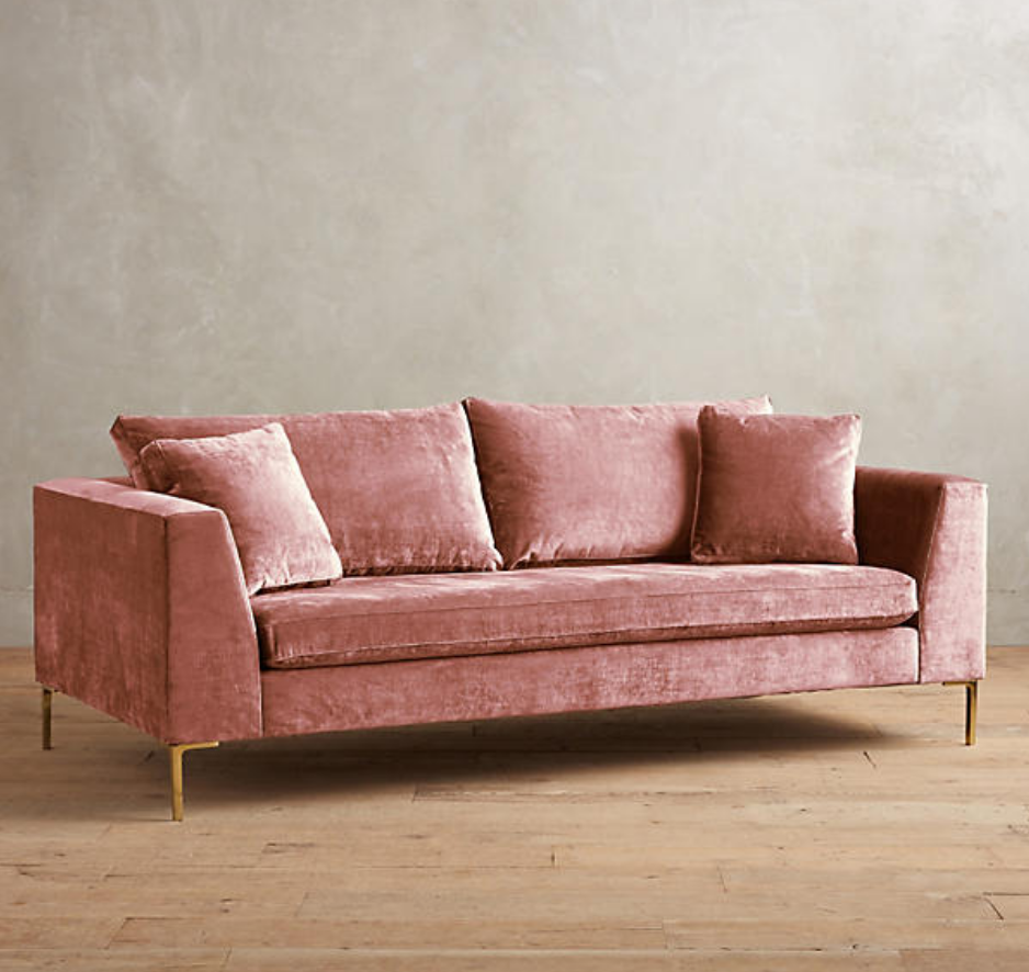 EDLYN SLUB VELVET SOFA