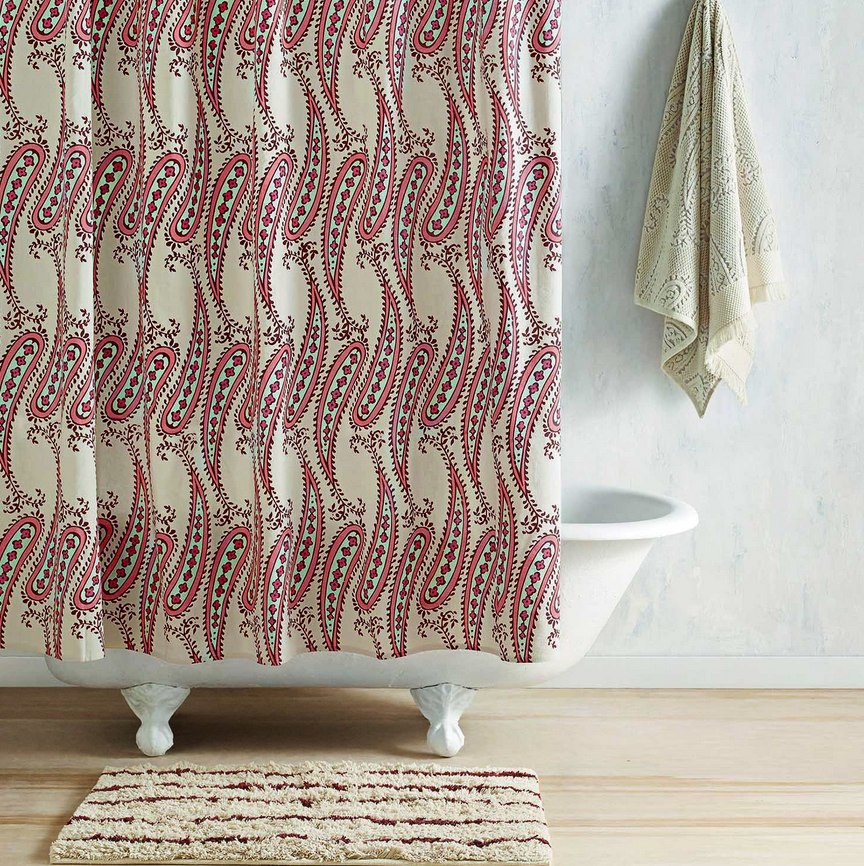 Linen naji shower curtain