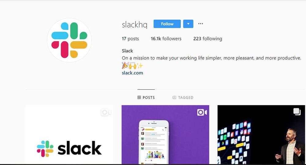 Slack on Instagram