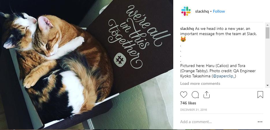 Slack on Instagram for B2B