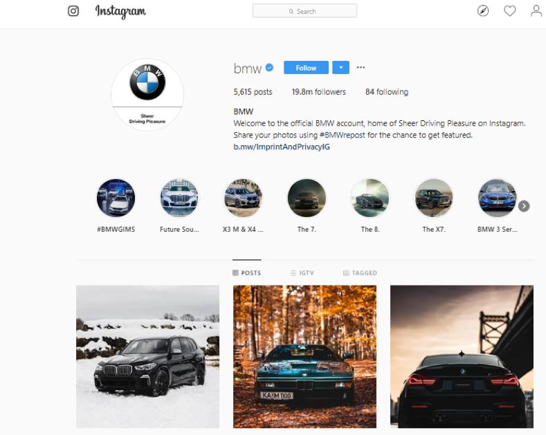 BMW Instagram