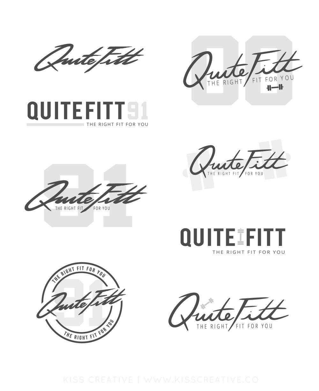 Quite Fitt Logo Concepts | Kiss Creative