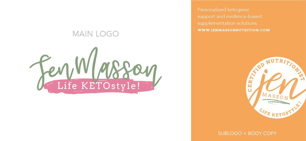 Jen Masson Final Logo Designs | Kiss Creative