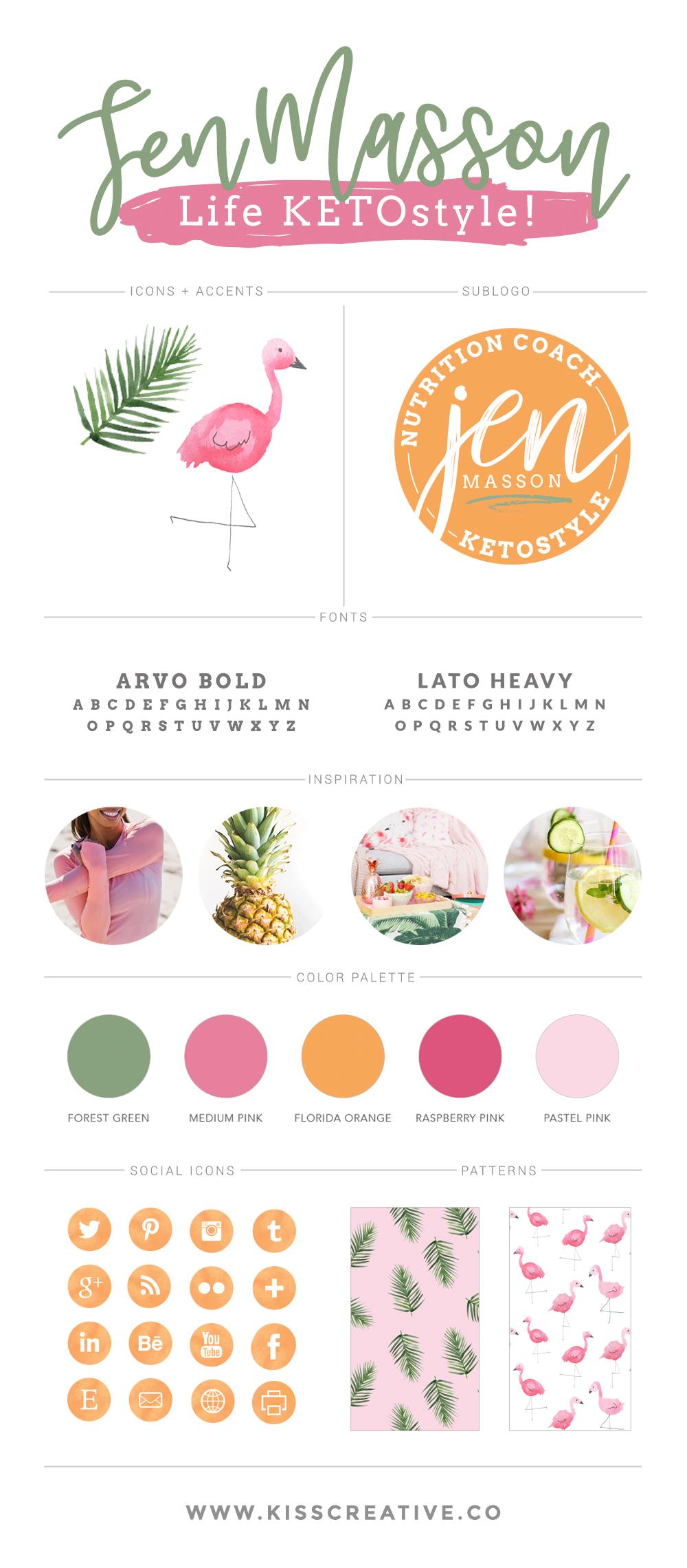 Jen Masson Brand Style Guide | Kiss Creative