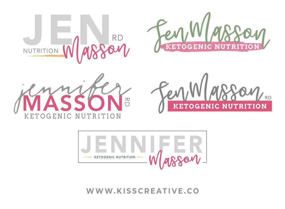 Jen Masson Logo Concepts | Kiss Creative