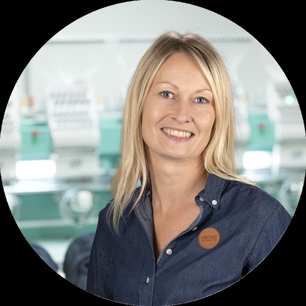 Emelie Buskas - Specialist på profilerande tryck & brodyr