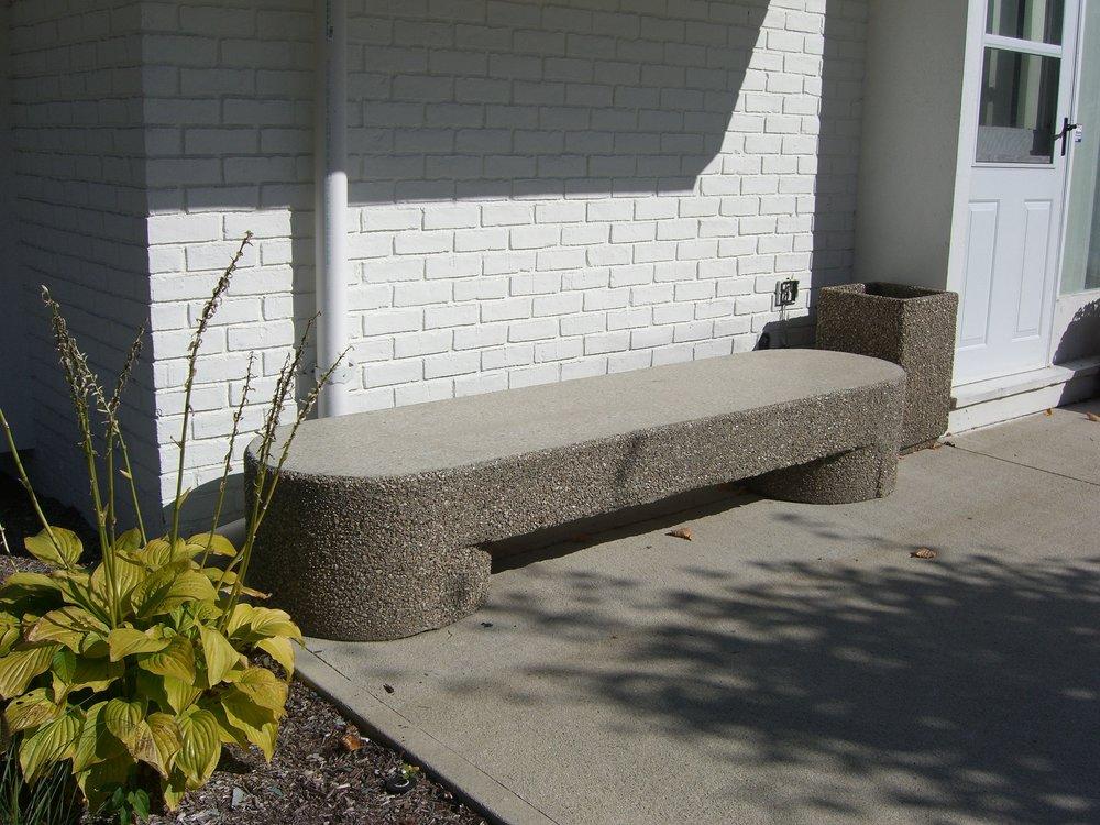 Sculptured Bench (White Landscape)