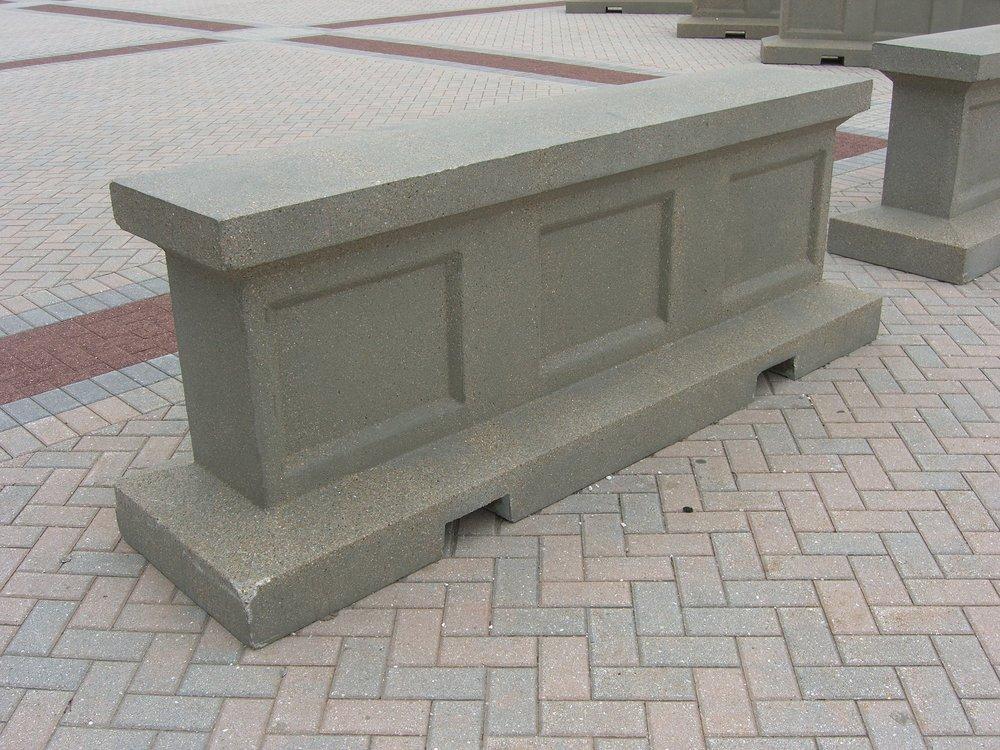 Precast concrete security barrier — american eagle