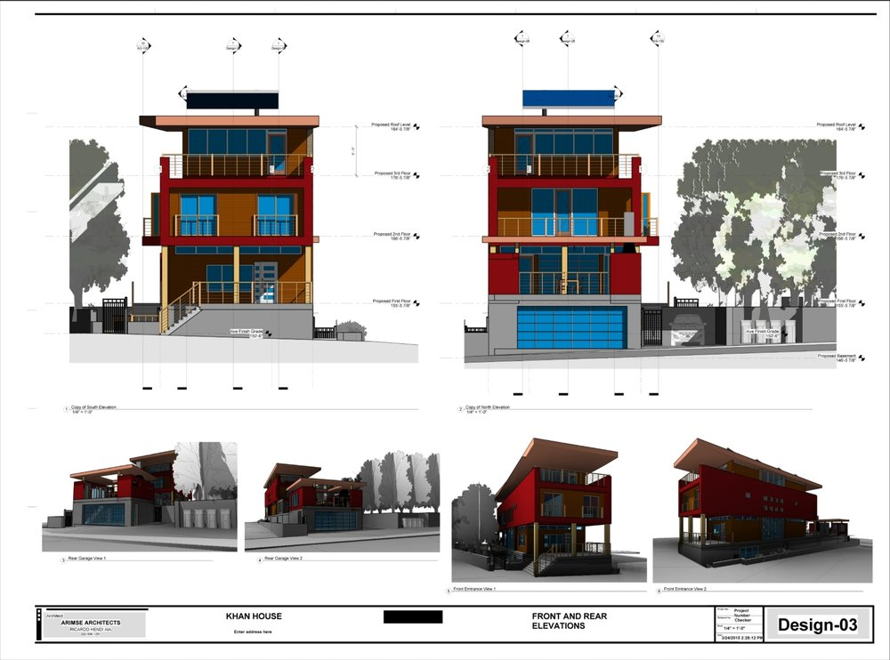 Khan House - Design-03 - FRONT AND REAR ELEVATIONS.jpg