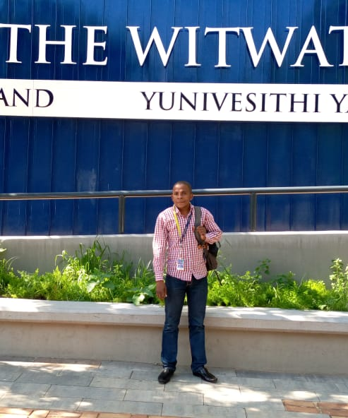 Nelson Nhamutole in the first day of his Master's Degree at Witwatersrand University.