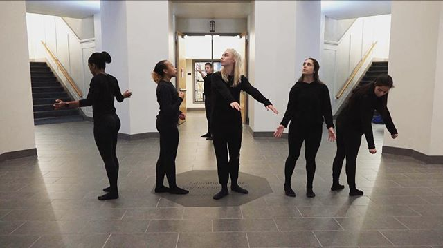 Humane Performance in the Rotunda: Calder White and Dancers  Location: Rotunda (just outside ACCAD / Dance main offices) March 8th at 5:15pm #accad #osu #ascatosu #osudance #humanetechnology #humanetechOSU #wellbeing