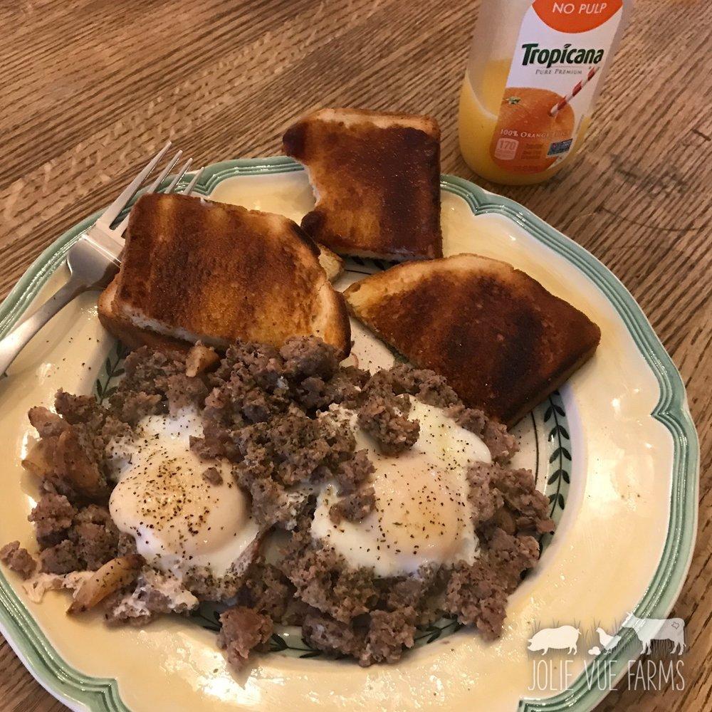 Jolie Vue Farms - Breakfast of champions!