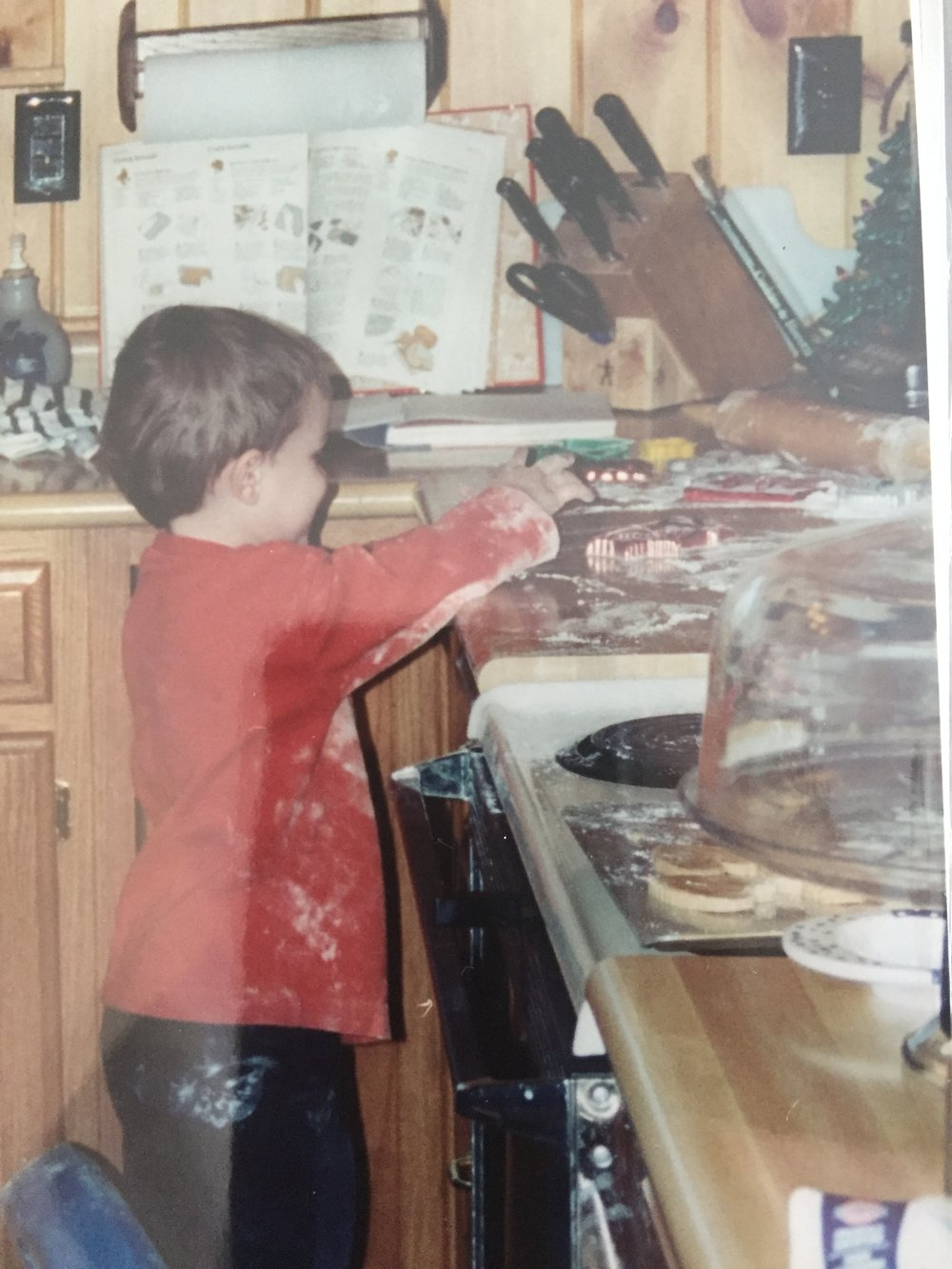 Chef Michael the early years.