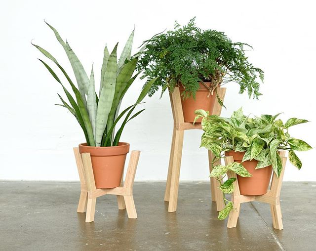 Get your plants off the floor with the Cross Planter plant stand 🙌🌱