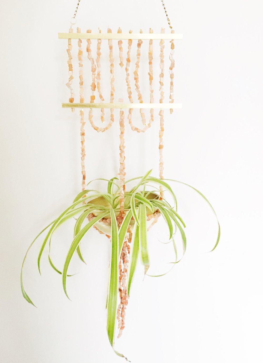 Blush + Brass Hanging Planter