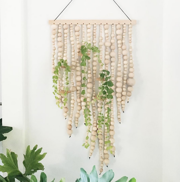Beaded Living Wall Hanging