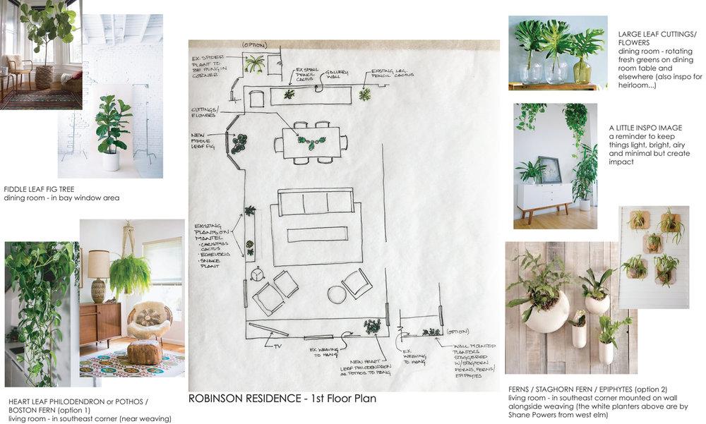 Asbury Park Residence Interior Plant Design