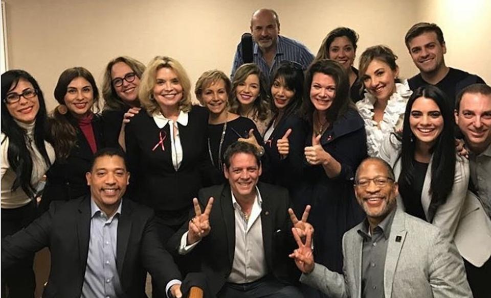 Photo from Forbes - Telemundo Actors and SAG-AFTRA organizers celebrate the 91-21 vote to join the union at the NLRB Tampa office.