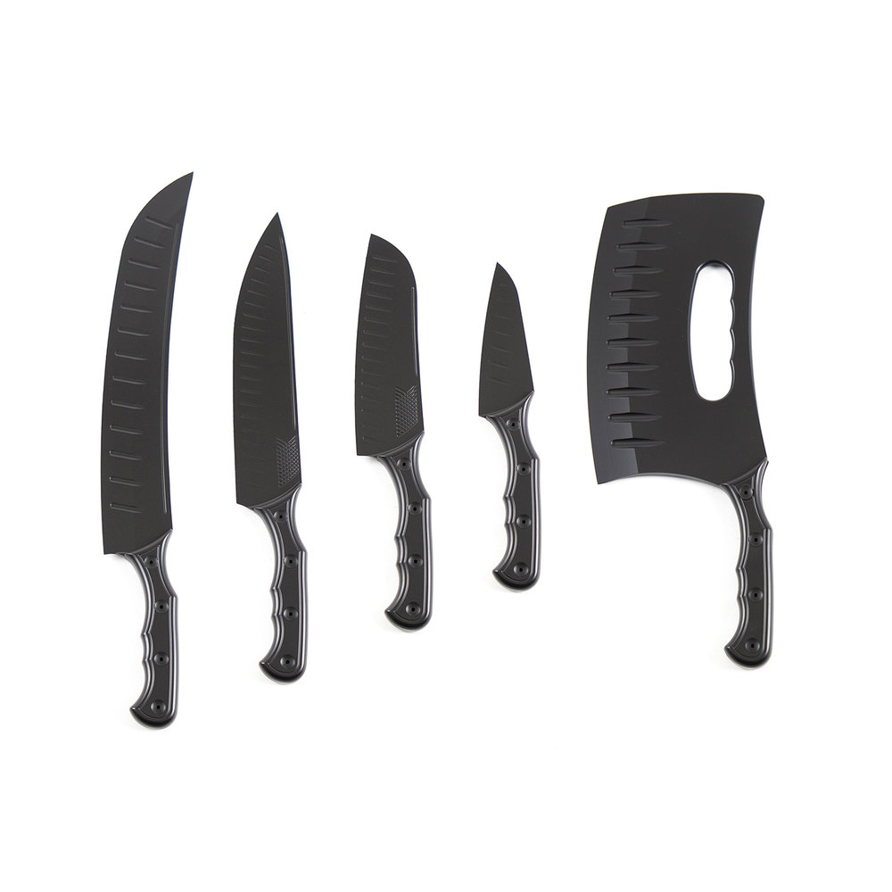 Triple Black Knife Set