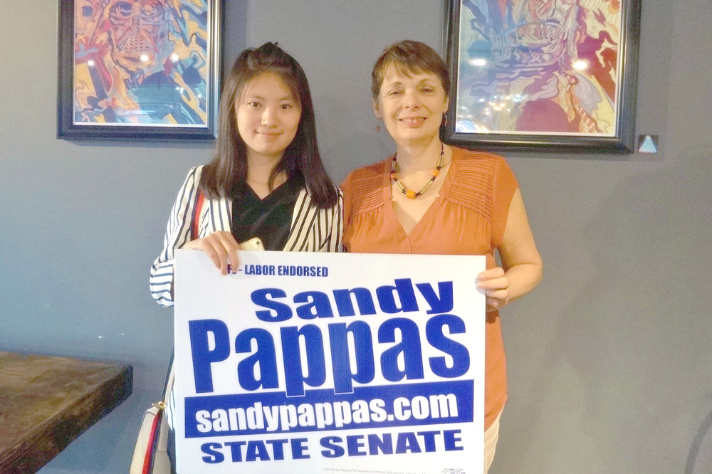 Sandy Pappas with Women Winning intern, Zi Xue