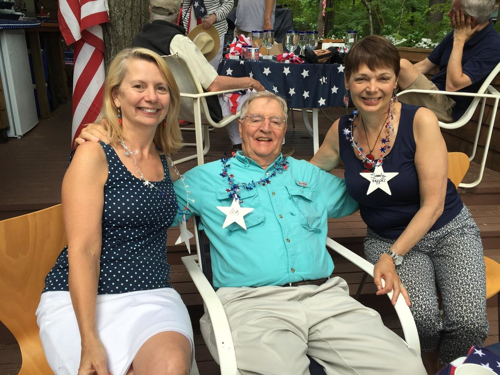 Celebrating 4th of July with former Senator