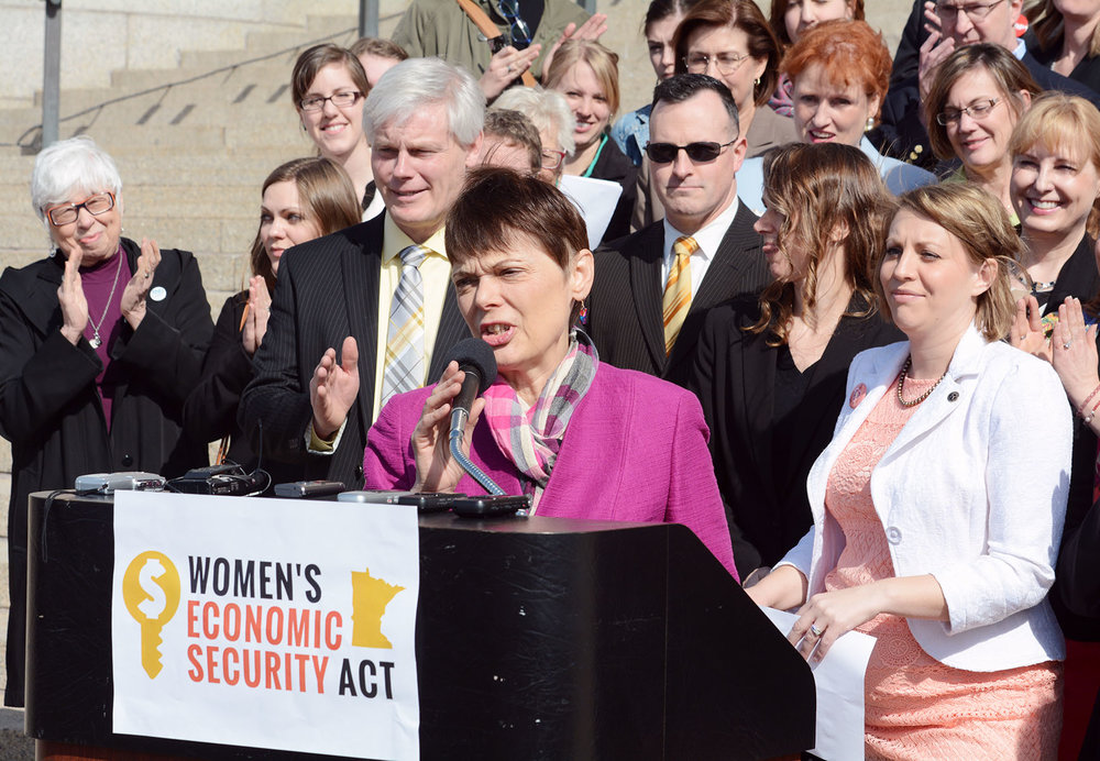 Sandy passed the landmark Women's Economic Security Act