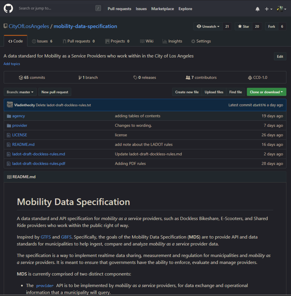 mobility-data-specification