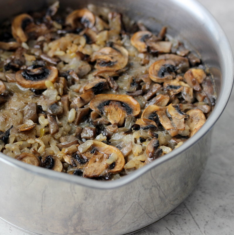 Mushroom Pilaf from the  Savvy Naturalista