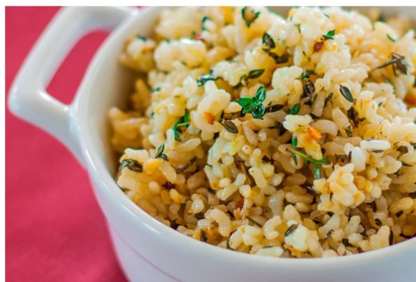Lemon Brown Rice from  Food & Wine