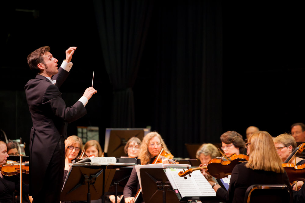 Jonathan Brennand, Music Director, conducting the FVSO in his first season, Fall 2014