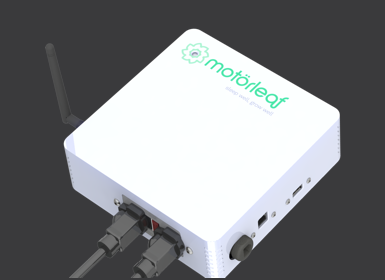 The Powerleaf by Motorleaf, one of 4 product components currently available to indoor urban farmers. Courtesy of  Motorleaf