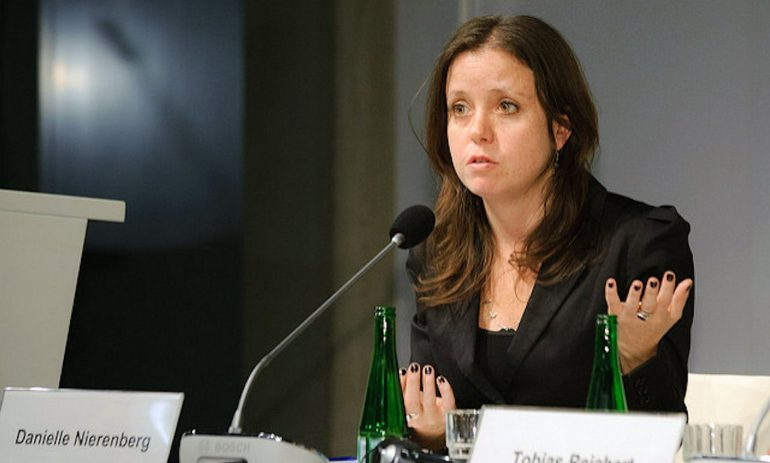 Danielle Nierenberg speaking on a panel/photo by  Stephan Röhl on Flickr