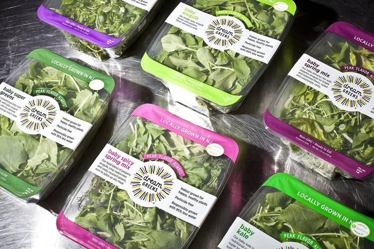 AeroFarms packaged greens await shipment.