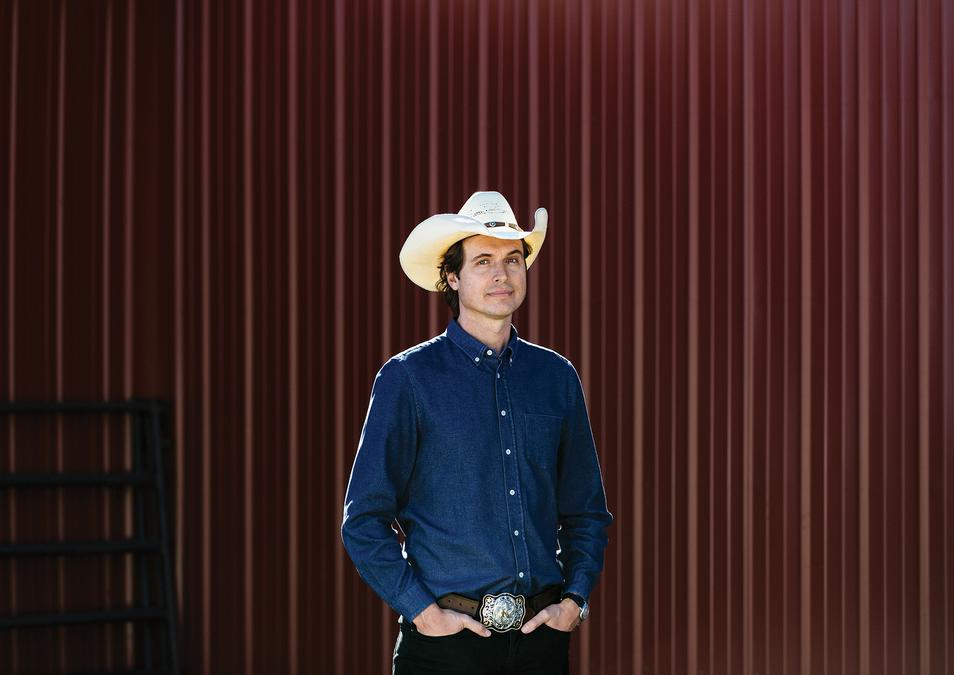 "URBAN COWBOY | Kimbal Musk at Koberstein Ranch in Colorado. ""He's got good judgment overall and has been put through the ringer a few times,"" says his brother, Elon. PHOTO: MORGAN RACHEL LEVY FOR WSJ. MAGAZINE"