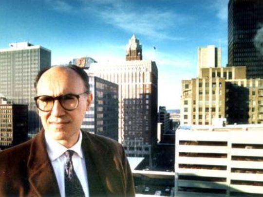 Mario Gandelsonas in Des Moines in 1989. A New York architect, Gandelsonas helped create a vision for the city that led to the create of the Western Gateway and the Principal Riverwalk. (Photo: Register file photo)
