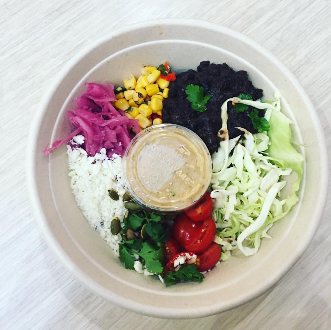 Meatless Monday motivation from  @samiray23  enjoying our Spicy Mexi-Cali bowl. Packed with 26g of protein from our grain blend and black beans.
