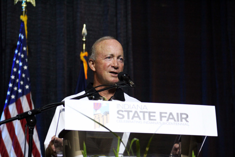 Purdue University President Mitch Daniels Accepting the   2016 Harvest Award
