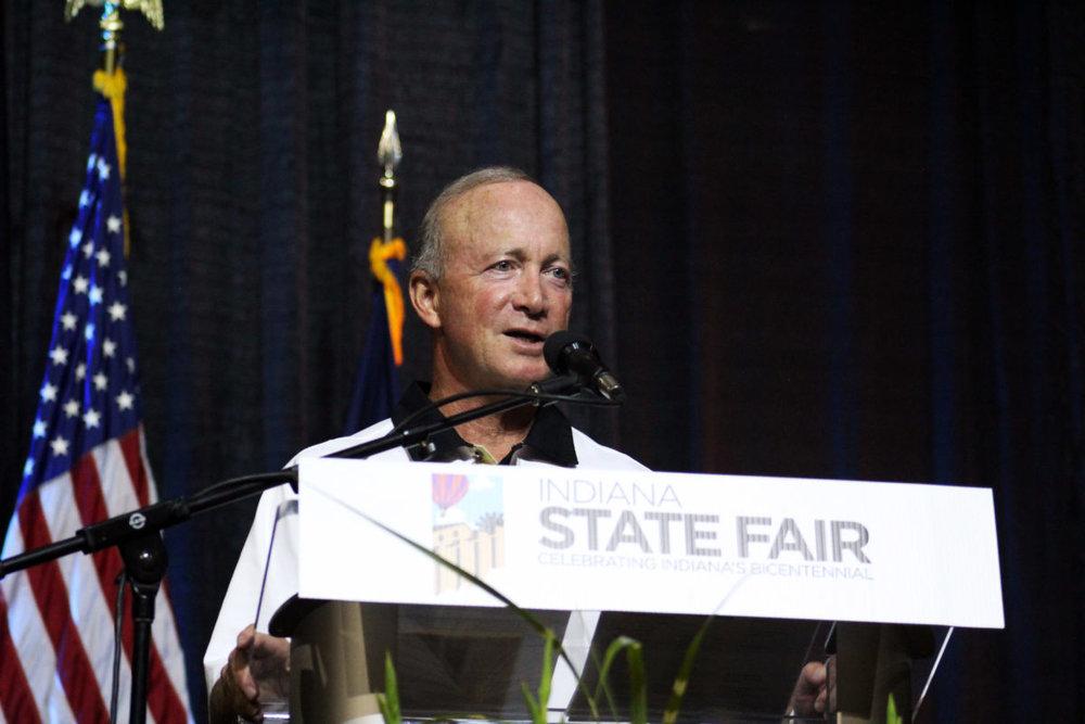 Purdue University President Mitch Daniels Accepting the   2016 Harvest Award