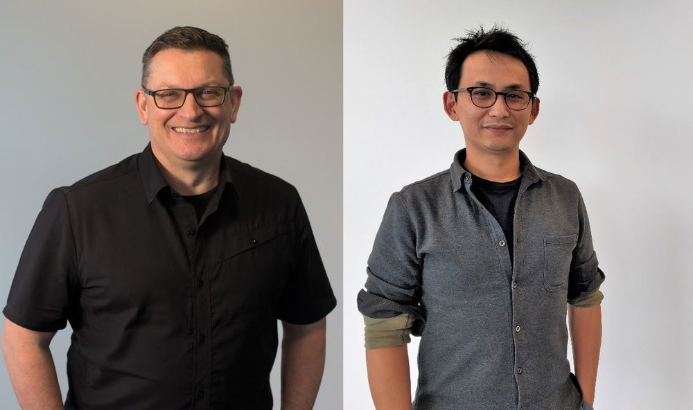 Darryn Keiller -CEO (left), Jeffrey Law - Chief Technology Officer (right)