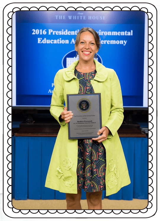 """It is an honor to be recognized by the EPA and the White House for my commitment to environmental education. I want to thank NY Sun Works for giving me the opportunity to create curriculum in such an inspiring science laboratory!"" —Shakira Provasoli"