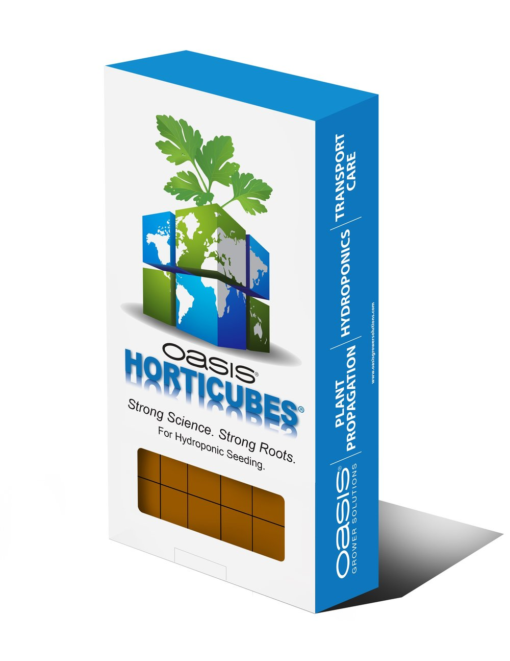 Oasis® Horticubes retail packs ideal for smaller and hobby growers, as well as larger growers to use for trials..