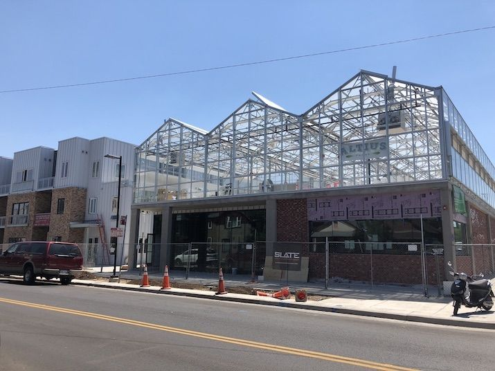 Bisnow/Margaret Jackson  The greenhouse at S*Park will provide produce to residents and nearby restaurants.