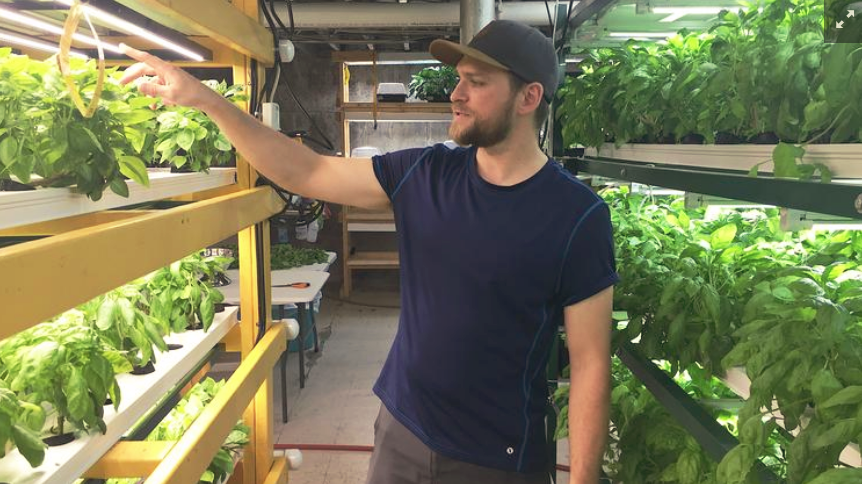 Michael Zak, the chairman of vertical farming organization GroOperative, is moving his company to a 4,200-square-foot space at Clinton and Bailey avenues.  DMFOTOGRAPHY