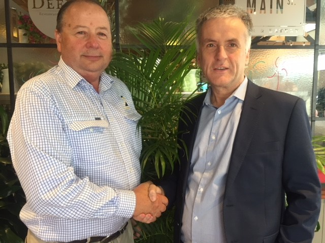 Peter Smith, AgForce QLD with David Stradling, One CMG Group