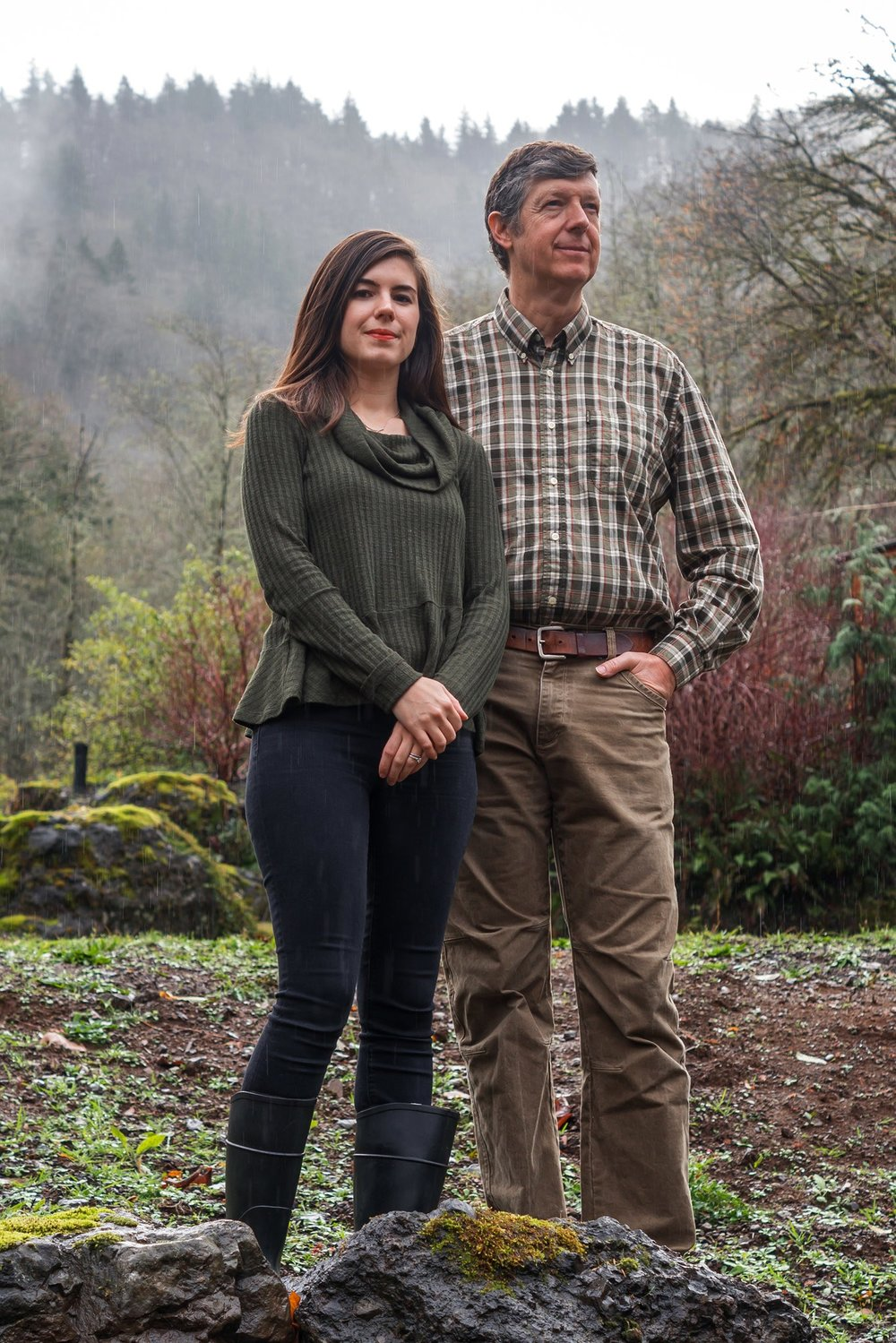 Dave Anderson, shown with his daughter, Casey Delperdang, bought a ranch in Oregon as a retreat for his extended family, in case their homes in Houston become uninhabitable.  Paul Wagtouicz