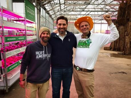 Drew Demler (State Fair of Texas), Chris Higgins and Stephen Ritz (Green Bronx Machine) (photo Hort Americas)