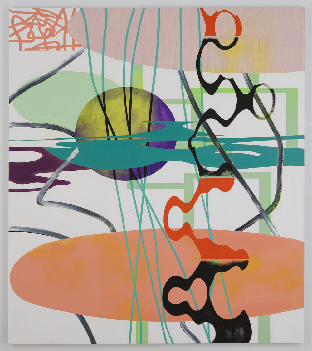 "DETACHED AFFECTION , 2011, Oil on linen, 72"" x 63"""