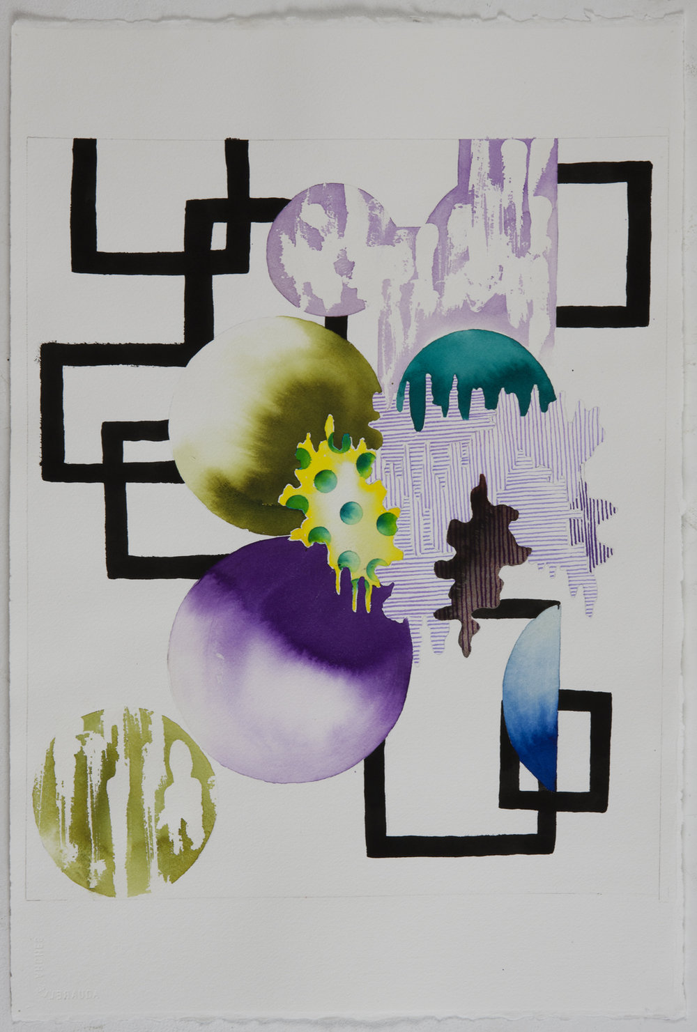 "UNTITLED   4 , 2011, Ink and gouache on paper, 22.5"" x 15"""